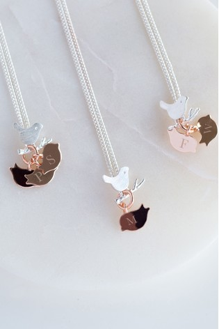 Personalised Family Bird Necklace by Oh So Cherished