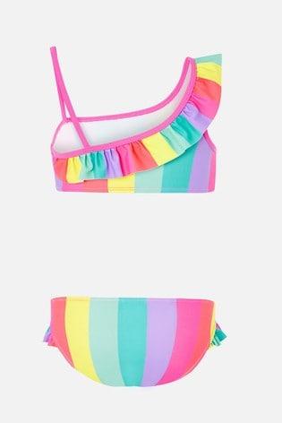 Angels By Accessorize Red Rainbow Bikini Set