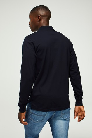 Tommy Hilfiger Blue Long Sleeve Polo