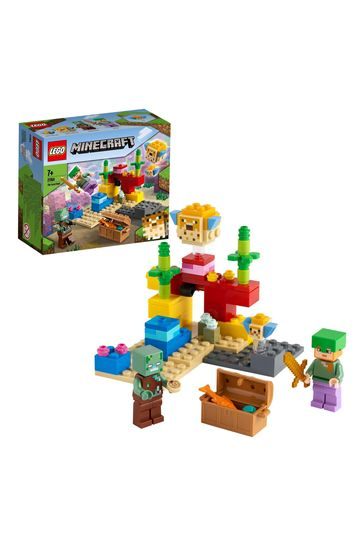 LEGO 21164 Minecraft The Coral Reef Building Set With Alex