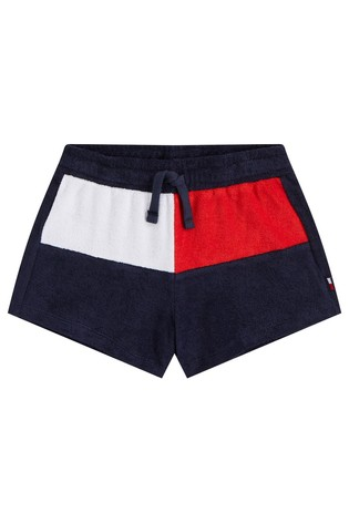 Tommy Hilfiger Blue Core Flag Terry Shorts