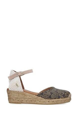 Kurt Geiger London Brown Minty Monogram Sandals