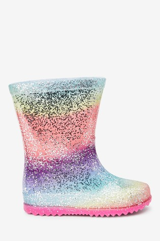 Rainbow Glitter Wellies (Younger)