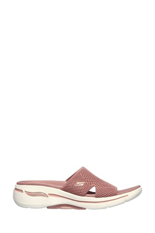 Skechers® Pink go Walk Arch Fit Sandals