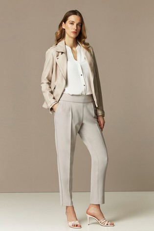 Wallis Grey Relaxed Pull-On Trousers