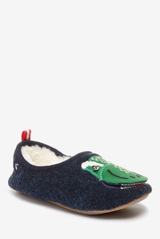Joules Green Dino Slippers