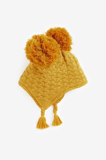 Cable Knit Trapper Hat (Younger)