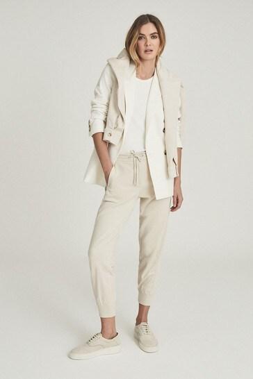 Reiss Shannon Panelled Loungewear Joggers