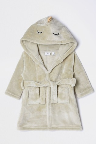 River Island Khaki Dino Dressing Gown