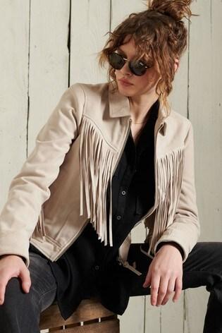 Superdry Festival Leather Jacket
