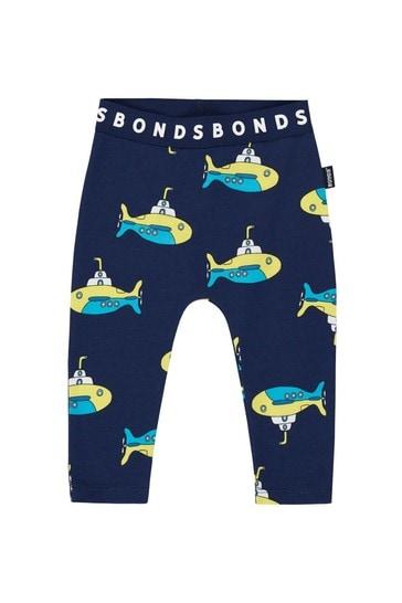 Bonds Blue Submarine Time Leggings