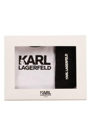 Karl Largerfeld Black/White Pyjamas And Bib Set