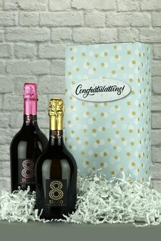 Congratulations Prosecco Wine Gift Box by Le Bon Vin