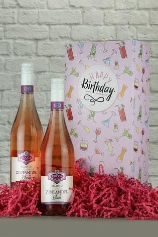 Happy Birthday Zinfandel Rosé Wine Gift Box by Le Bon Vin