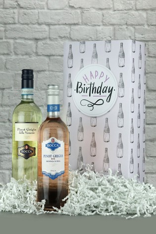Happy Birthday Pinot Grigio Wine Gift Box by Le Bon Vin