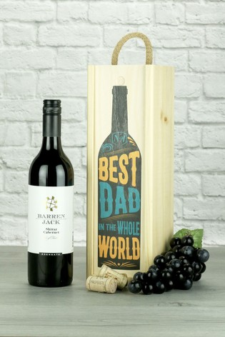 Best Dad In The World Shiraz/Cabernet Wine Gift by Le Bon Vin