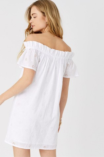 Accessorize White Shiffly Bardot Dress