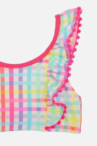 Angels by Accessorize Pink Rainbow Check Bikini Set
