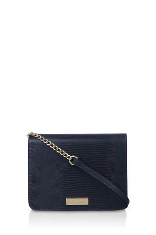 Carvela Blue Rebecca Croc Cross Body Bag