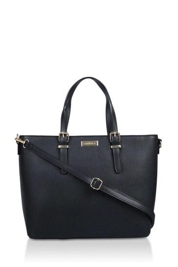 Carvela Black Hex Buckle Detail Tote Bag