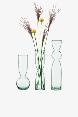 LSA International Clear Canopy Recycled Trio Vase Set