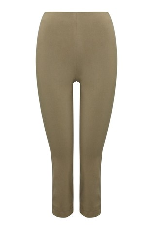 M&Co Green Cropped Stretch Trousers
