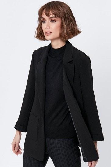 M&Co Black Textured Blazer