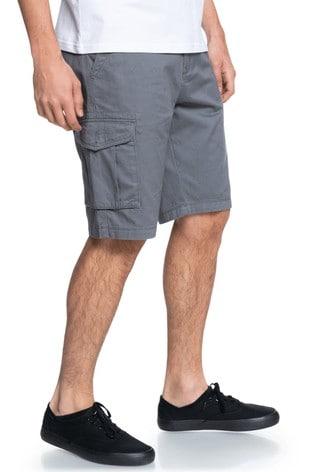 "Quiksilver Grey Crucial Battle 21"" Cargo Shorts"