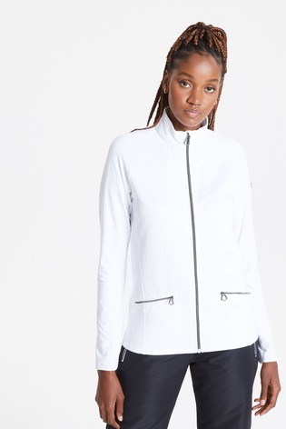 Dare 2B White Solaria Ii Full Zip Core Stretch Sweater