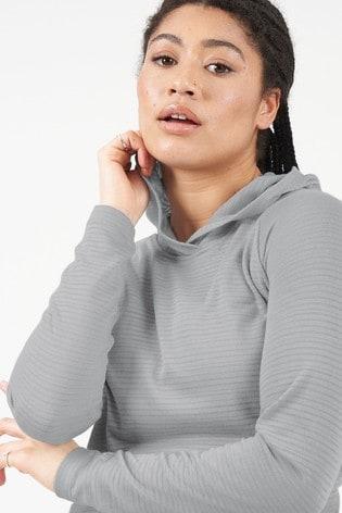 Dare 2B Grey Result Long Sleeve Hooded Top