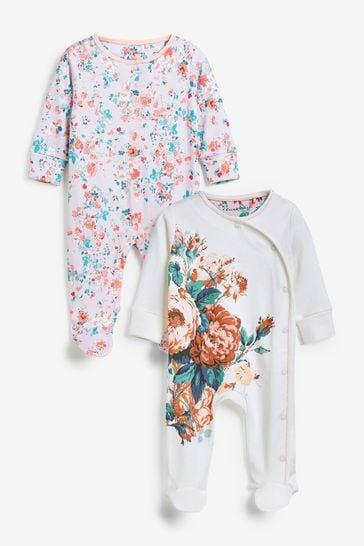 Floral Sleepsuits 2 Pack