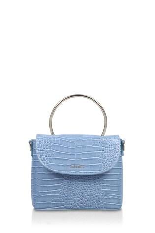 Carvela Blue Jessica Mini Circle Cross Body Bag