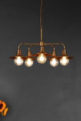 Searchlight Gold Frieda 5 Light Ceiling Light