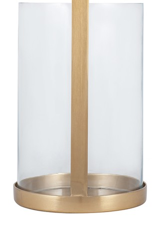 Pacific Glass and Brass Large Metal Lantern