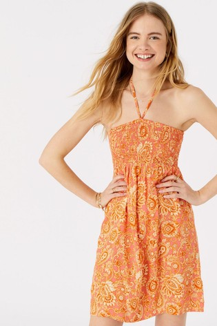 Accessorize Paisley Print Bandeau Dress