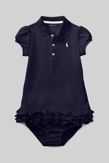 Ralph Lauren Navy Logo Polo Dress