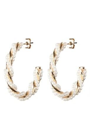 Oliver Bonas Nirvana Beaded Chunky Hoop Earrings