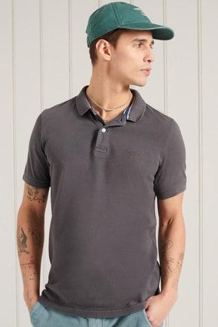 Superdry Organic Cotton Vintage Destroy Polo Shirt