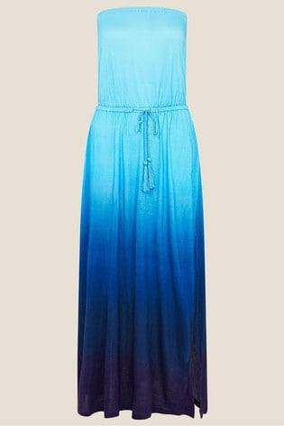 Monsoon Purple Ombre Bandeau Dress In Lenzing™ Ecovero™