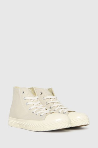 Schuh Natural Mckenna High Top Lace Up Trainers