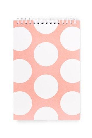 kate spade new york Peach Jumbo Dot Top Spiral Notebook
