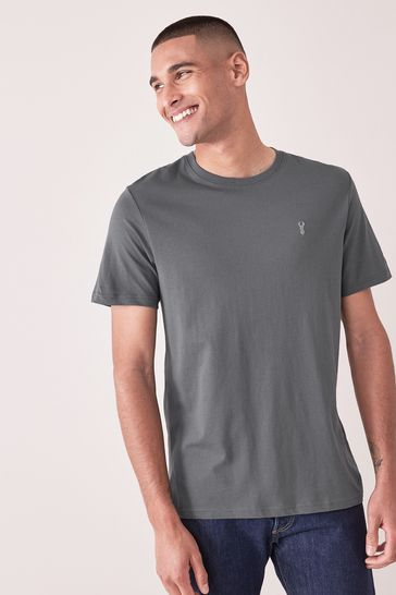 Slate Regular Fit Stag T-Shirt