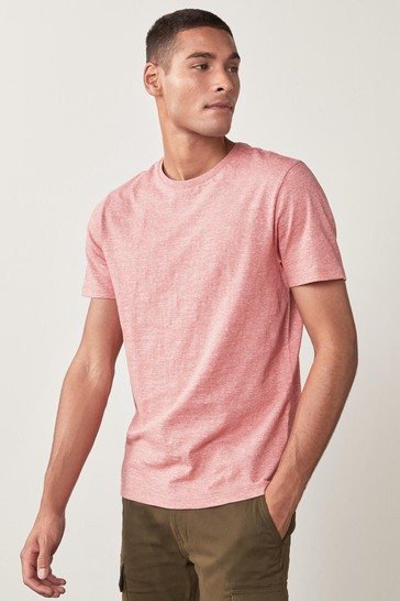 Pink Marl No Stag Regular Fit Stag T-Shirt