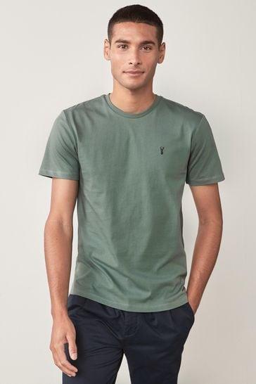 Sage Regular Fit Stag T-Shirt