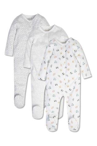 M&Co Animal Sleepsuits 3 Pack