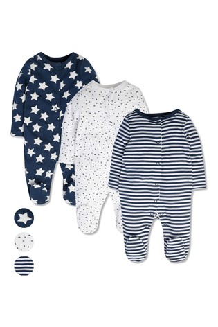 M&Co Printed Sleepsuits 3 Pack