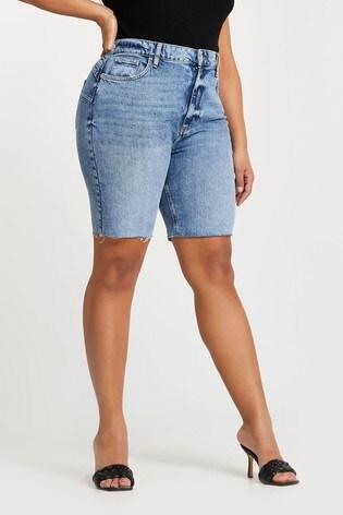 River Island Plus Denim Medium Longline Mom Short Bum Sculpt Jeans
