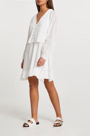 River Island Cream 2-In-1 Mini Dress