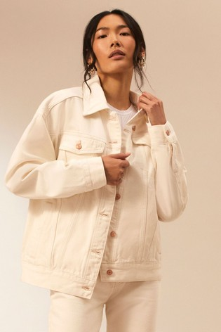 River Island Studio Denim Light Oversized Premium Jacket