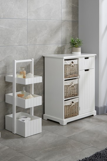 3 Tier Caddy in White By Lloyd Pascal